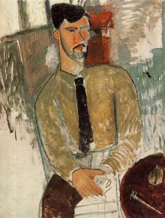 portret by Amedeo Modigliani, 1915