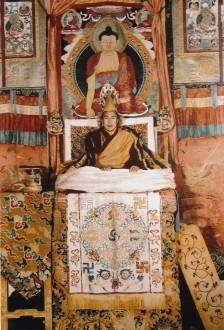 H.H. the Dalai Lama, Tenzin Gyatso, born in 1935, 14th reincarnation, Gelug. Photo taken in January 1957 in Kalimpong, India by Das Brothers. Courtesy Das Photo Studio, Darjeeling